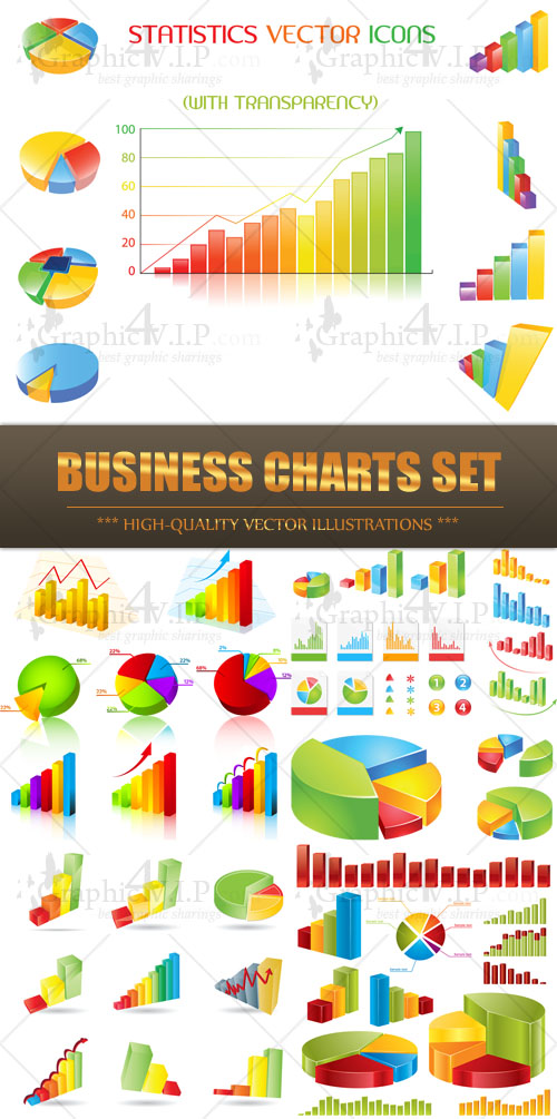 Business Charts Set - Stock Vectors