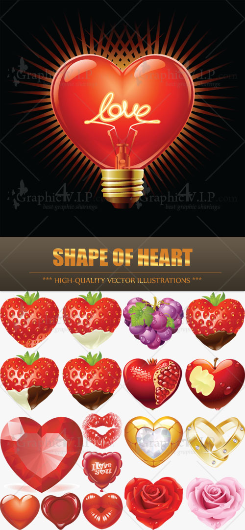 Shape of Heart - Stock Vectors