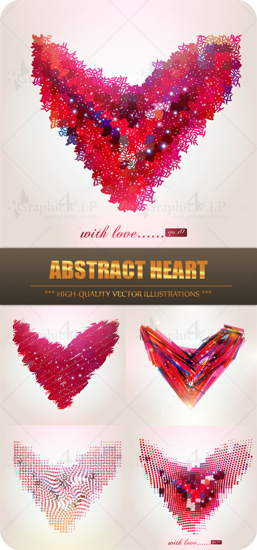 Abstract Heart - Stock Vectors
