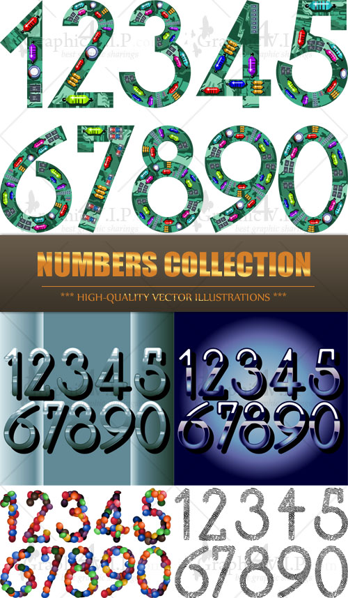 Numbers Collection - Stock Vectors