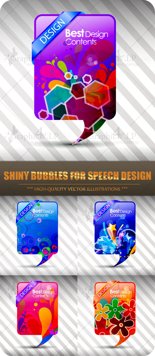 Shiny Bubbles for Speech Design - Stock Vectors