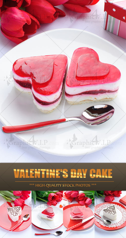 Valentine's Day Cake - Stock Photos