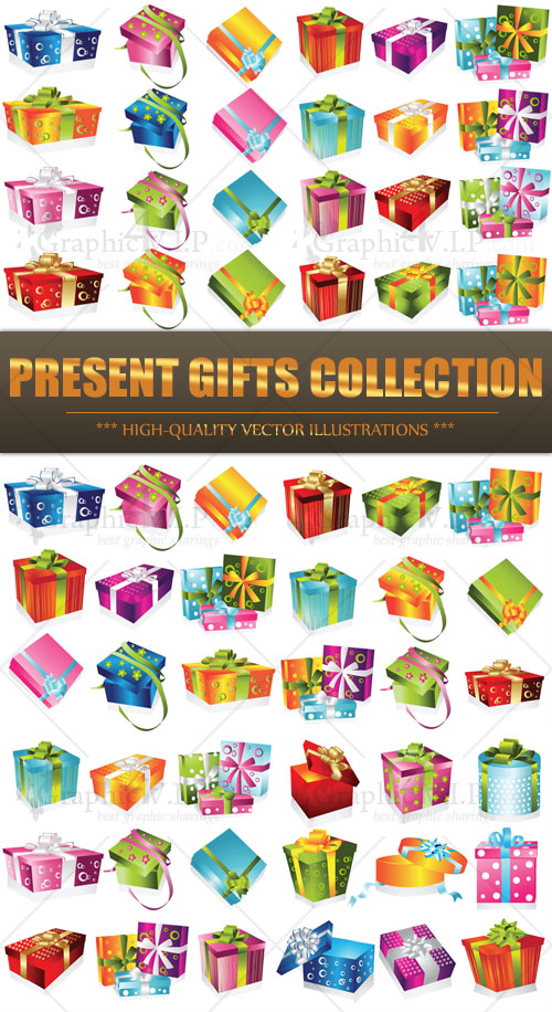 Present Gifts Collection - Stock Vectors