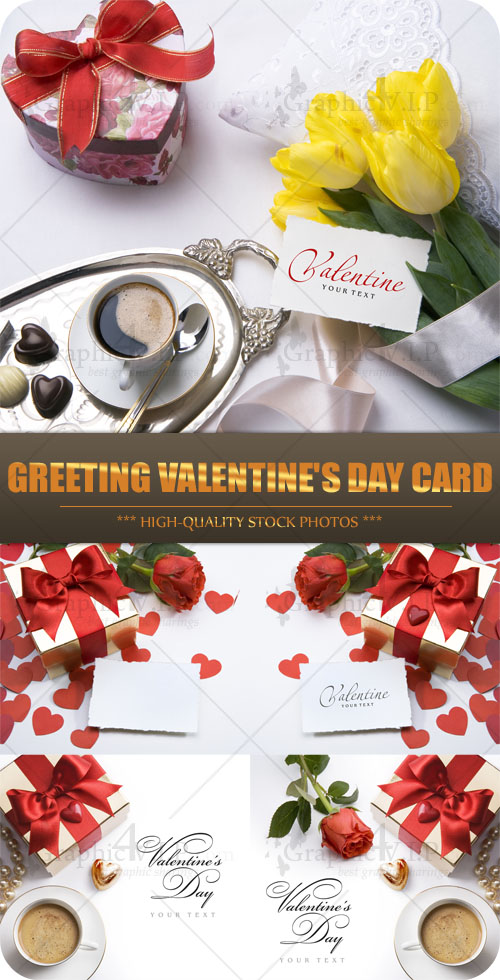 Greeting Valentine's Day Card - Stock Photos