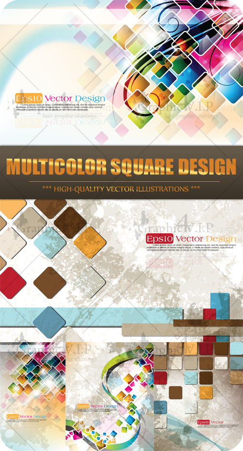 Multicolor Square Design - Stock Vectors