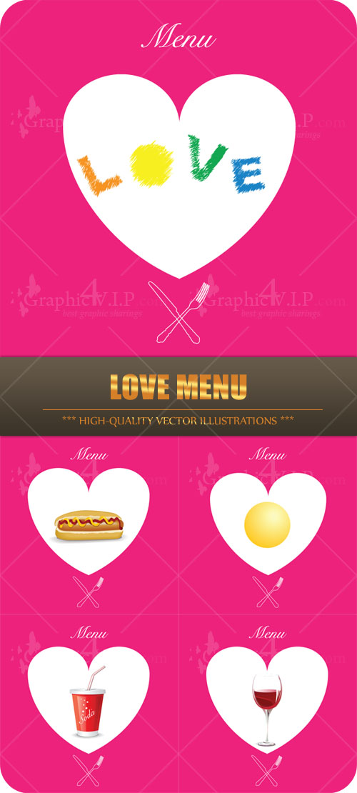 Love Menu - Stock Vectors