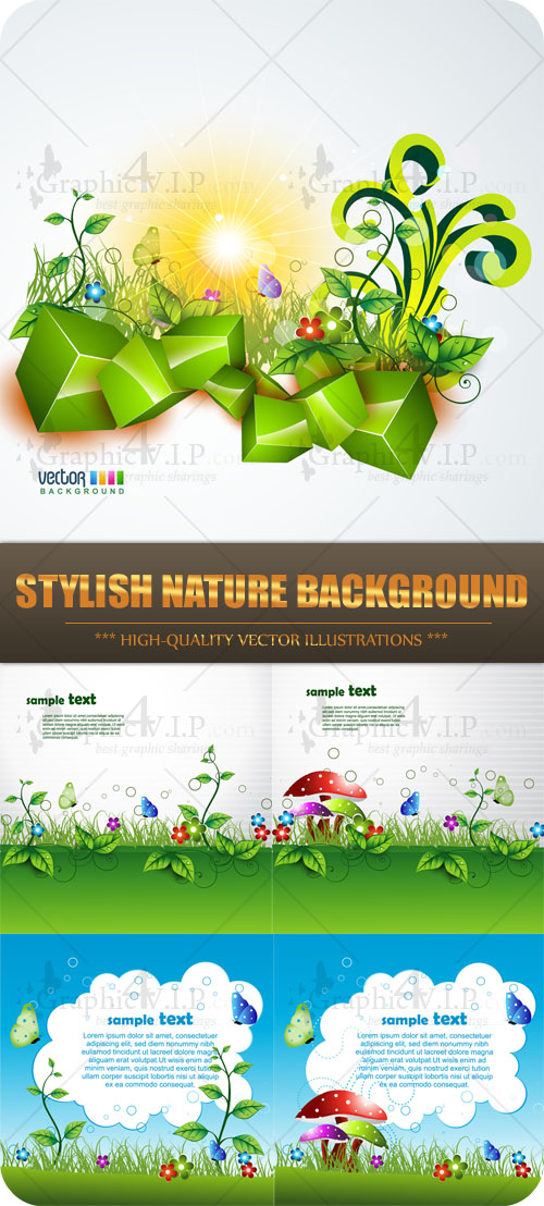 Stylish Nature Background - Stock Vectors