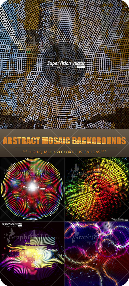 Abstract Mosaic Backgrounds - Stock Vectors