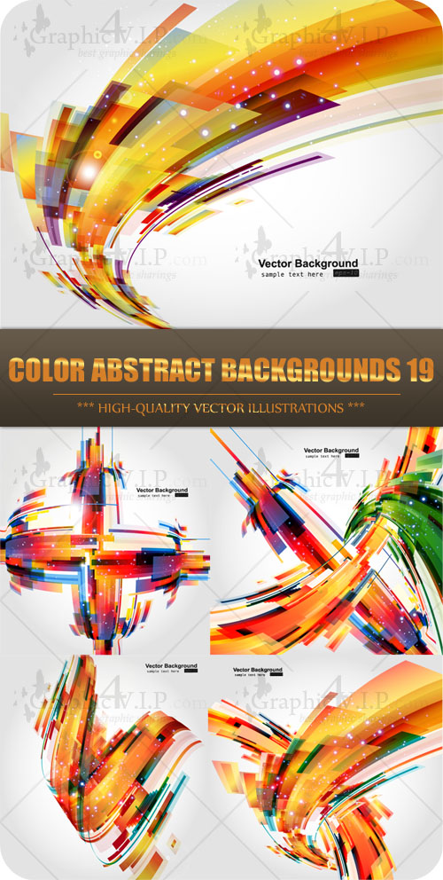 Color Abstract Backgrounds 19 - Stock Vectors