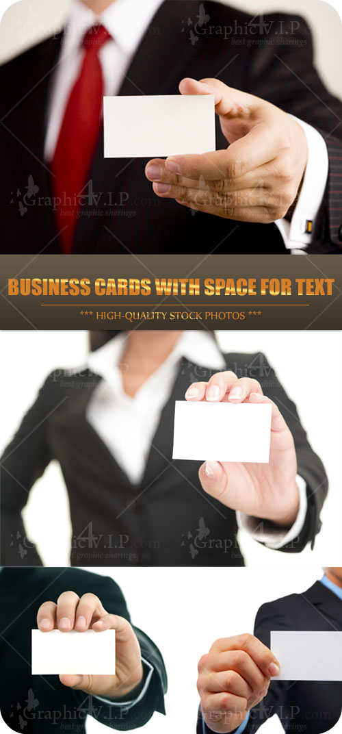 Business Cards with Space for Text - Stock Photos