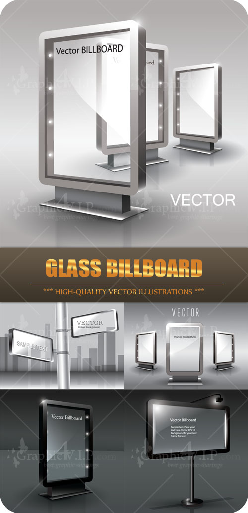 Glass Billboard - Stock Vectors