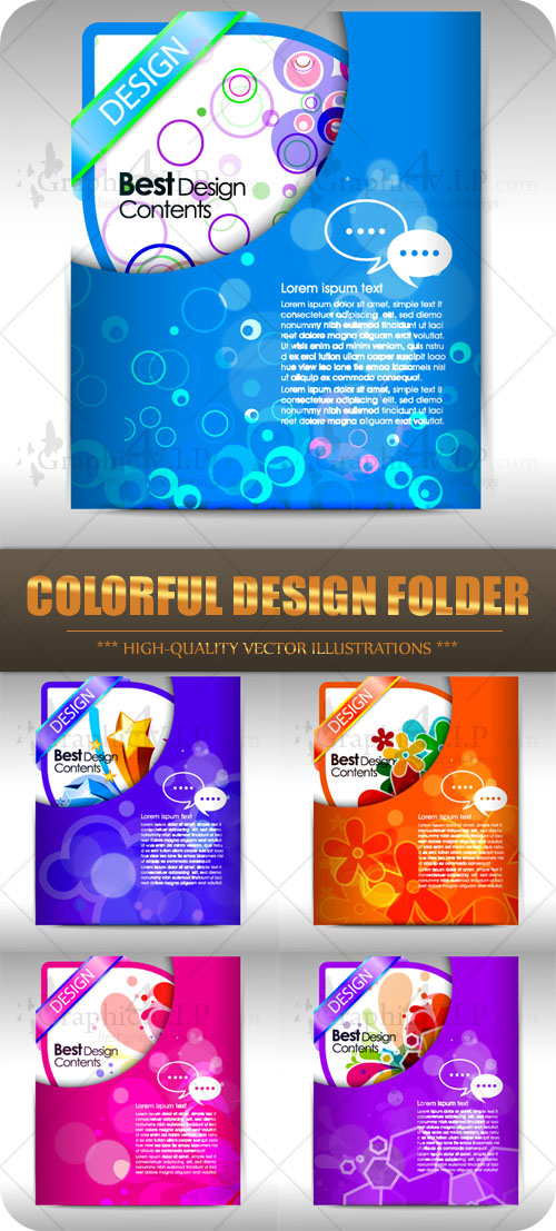 Colorful Design Folder - Stock Vectors