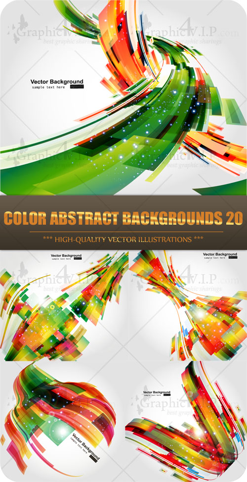 Color Abstract Backgrounds 20 - Stock Vectors