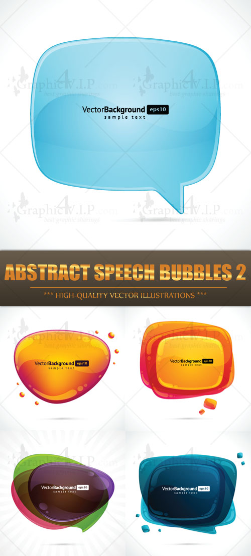 Abstract Speech Bubbles 2 - Stock Vectors