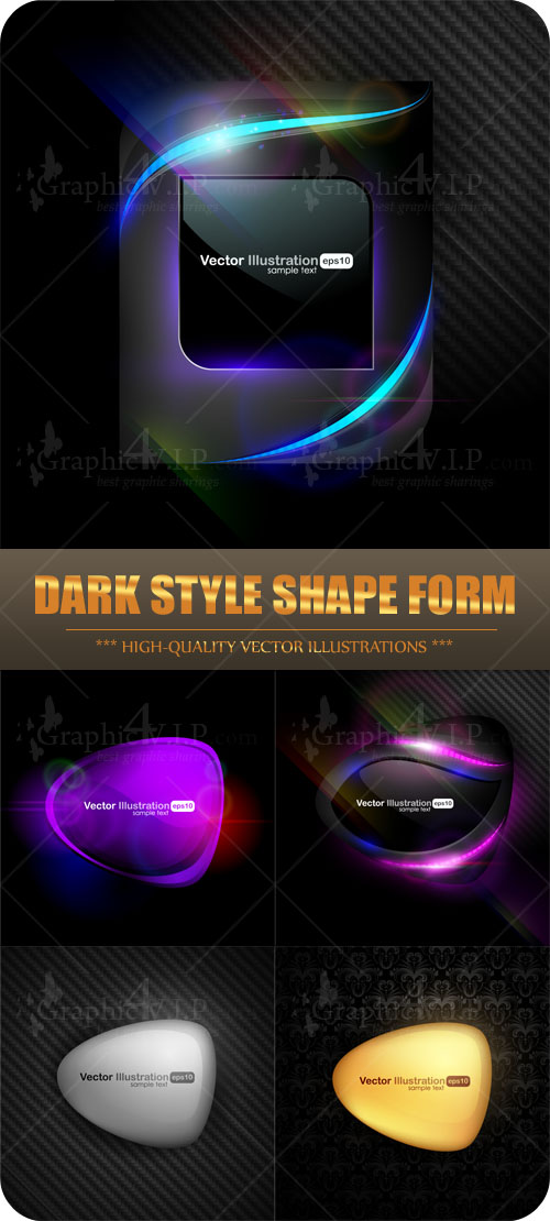 Dark Style Shape Form - Stock Vectors