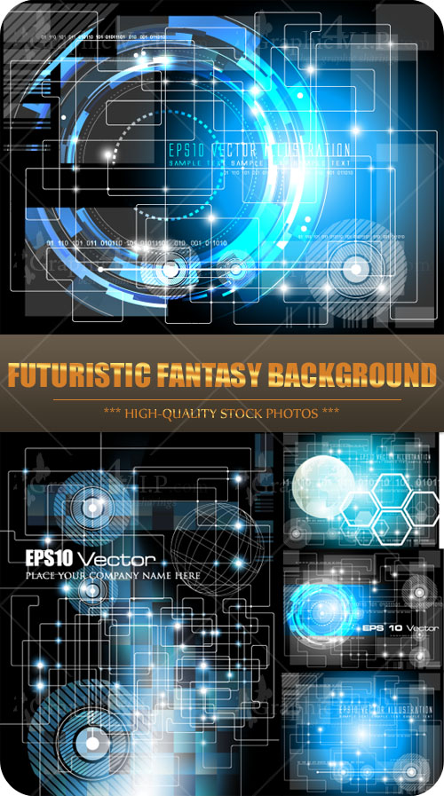 Futuristic Fantasy Background - Stock Vectors
