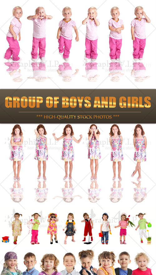 Group of Boys and Girls - Stock Photos