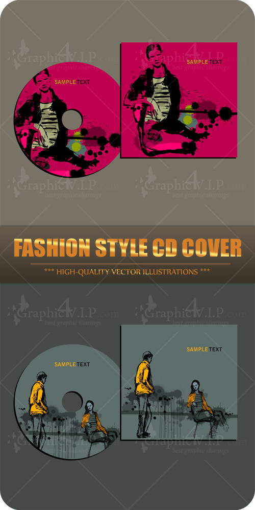 Fashion Style CD Cover - Stock Vectors