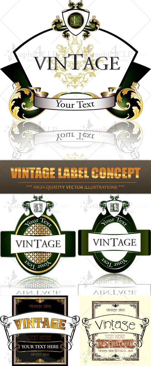 Vintage Label Concept - Stock Vectors