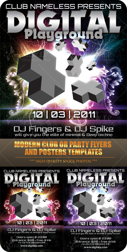 Modern Club or Party Flyers and Posters - PSD Templates