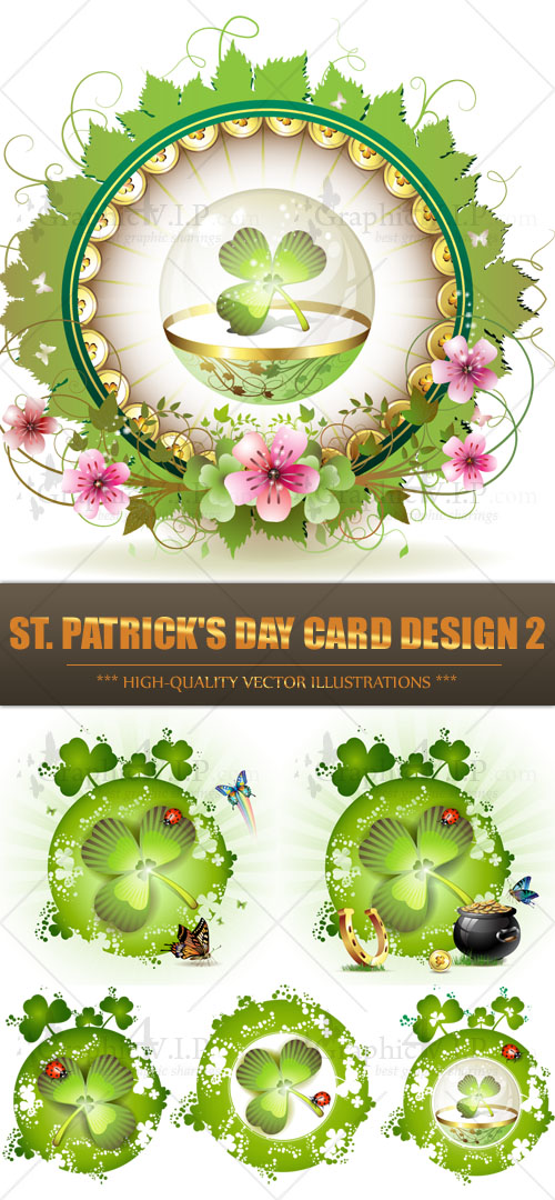 St. Patrick's Day Card Design 2 - Stock Vectors