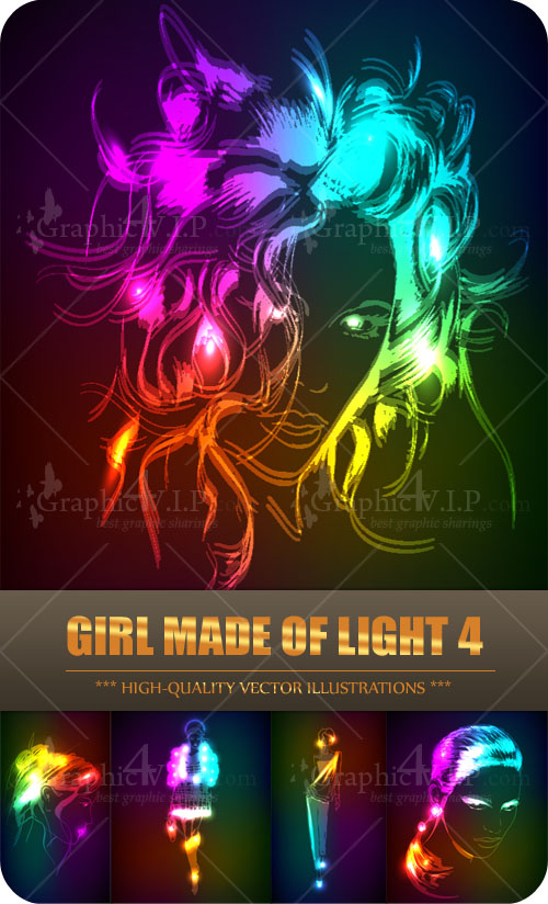 Girl Made of Light 4 - Stock Vectors