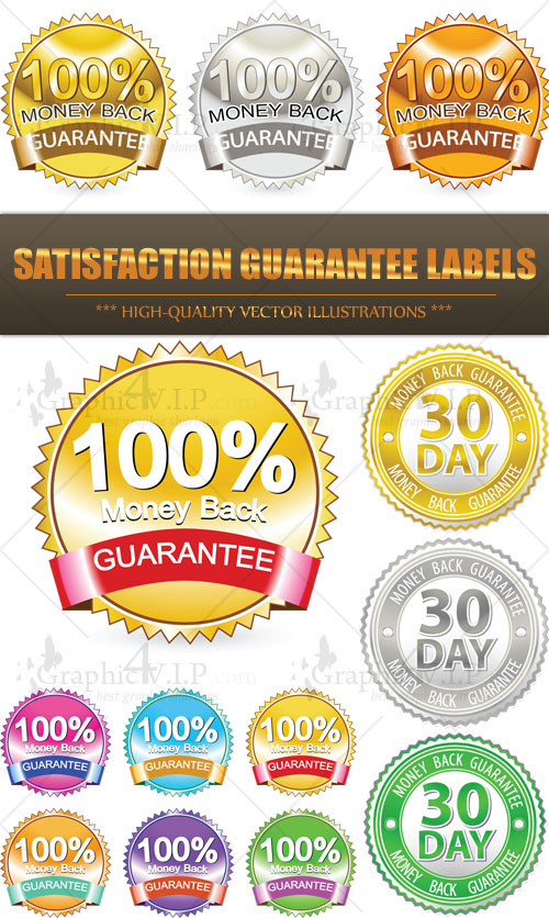 Satisfaction Guarantee Labels - Stock Vectors