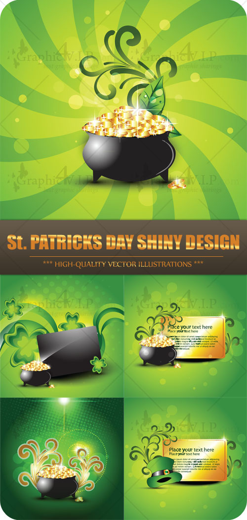 St. Patricks Day Shiny Design - Stock Vectors