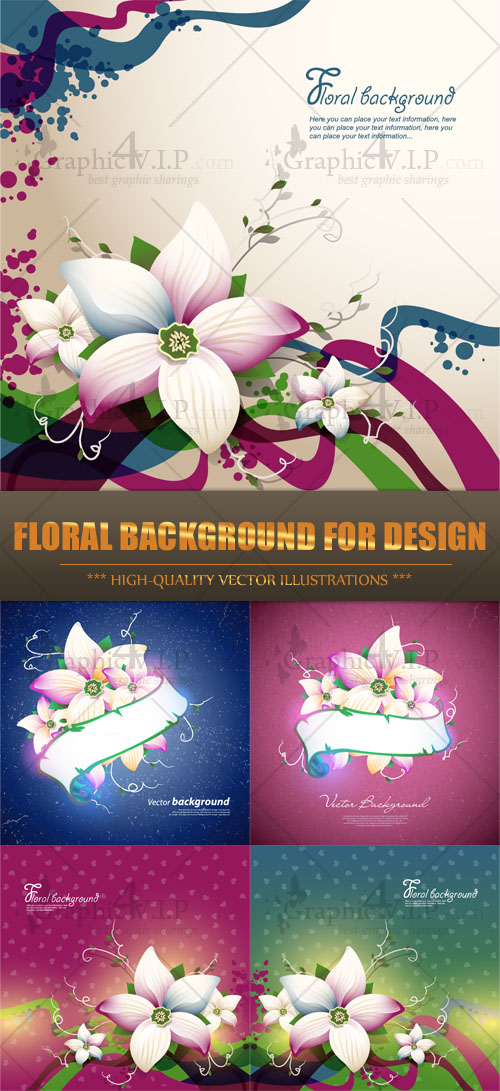 Floral Background for Design - Stock Vectors