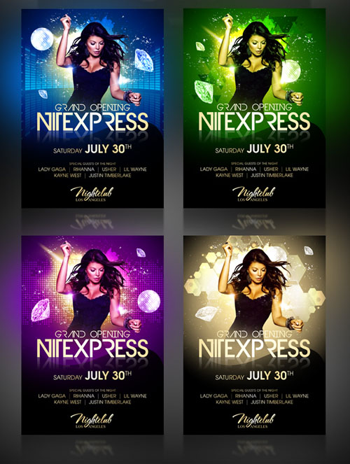 Nitexpress Party Flyer - PSD Template