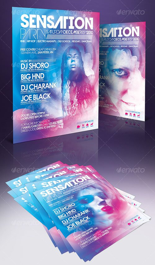 Sensation Flyer Templates - PSD Template