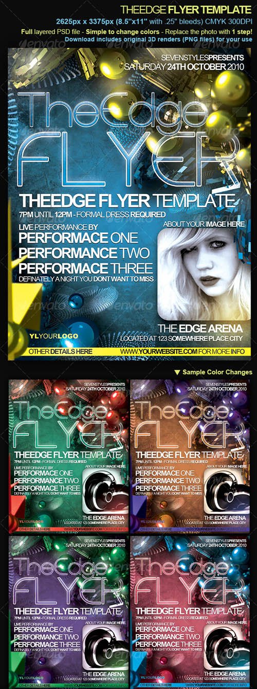 TheEdge Flyer/Poster Template - PSD Sources