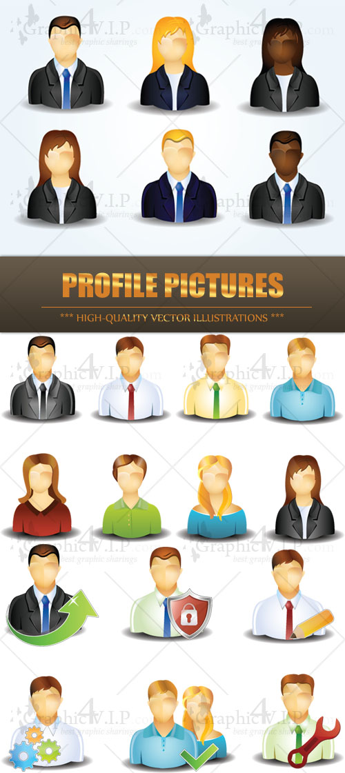 Profile Pictures - Stock Vectors