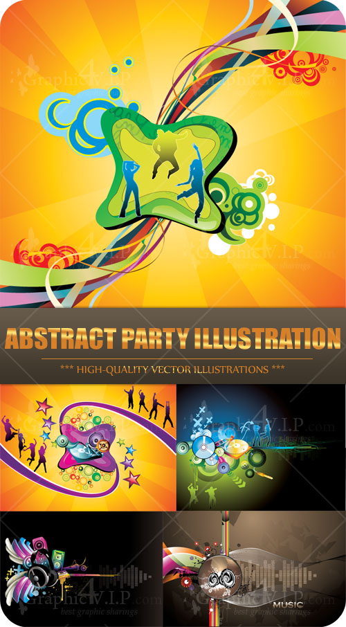 Abstract Party Illustration - Stock Vectors