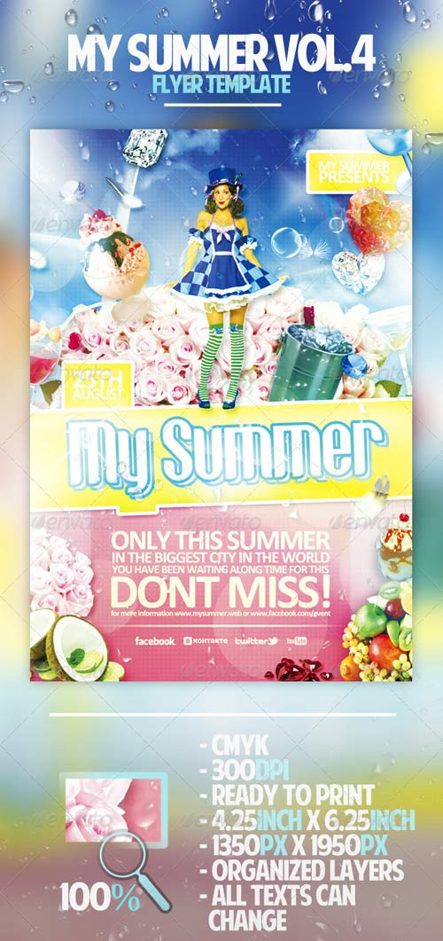 GraphicRiver My Summer Vol.4 Flyer Template