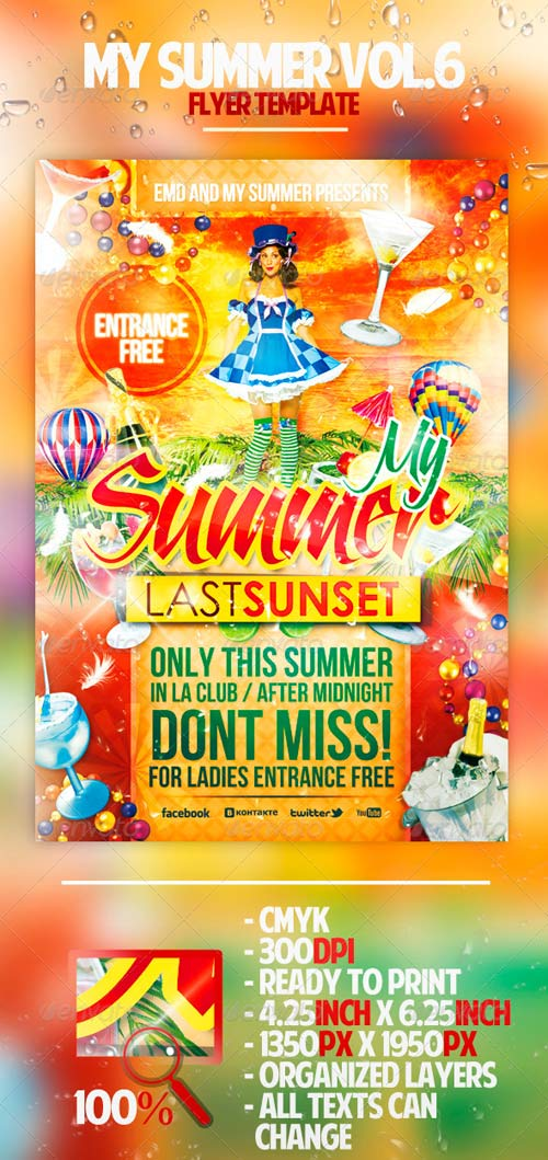GraphicRiver My Summer Vol.6 Flyer Template