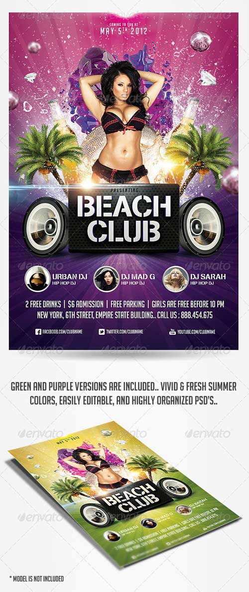 GraphicRiver Summer Beach Club Flyer Template