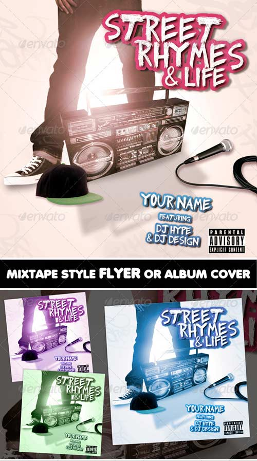 GraphicRiver Street Rhymes & Life Mixtape CD Flyer Template