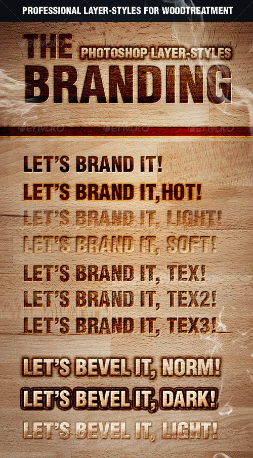 GraphicRiver The Branding Text Styles & Layer Styles
