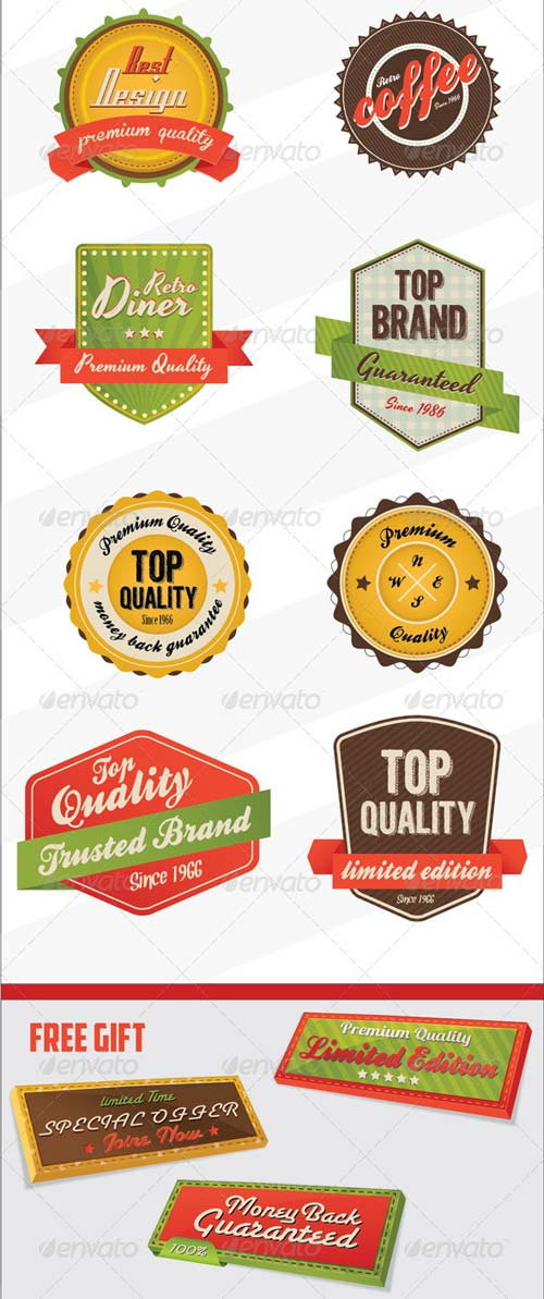 GraphicRiver Retro Vintage Badges & logo