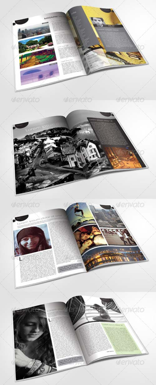 GraphicRiver 24 Pages Magazine Template in A4 Format