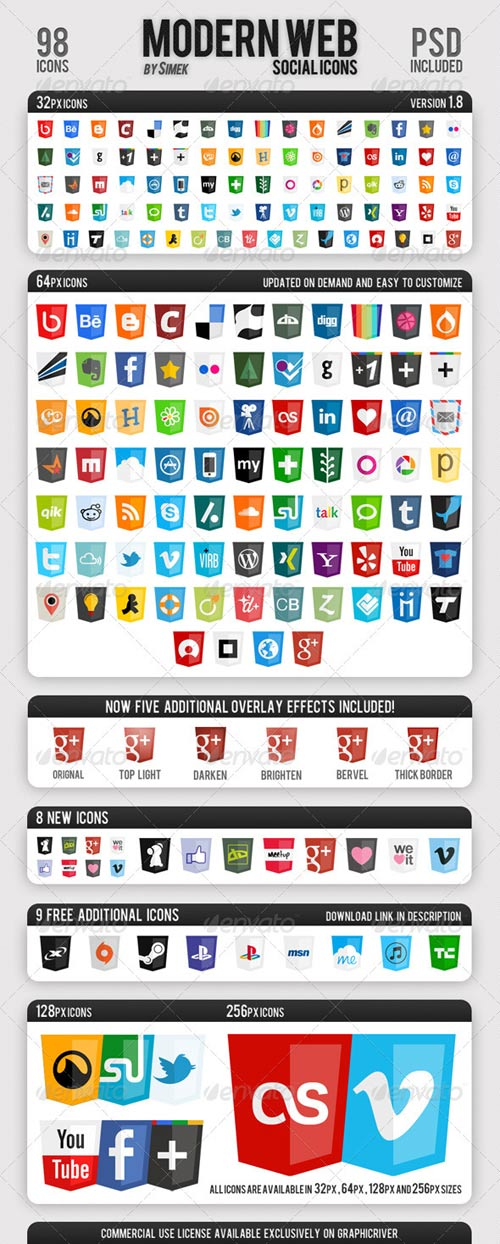 GraphicRiver Modern Web Social Icons
