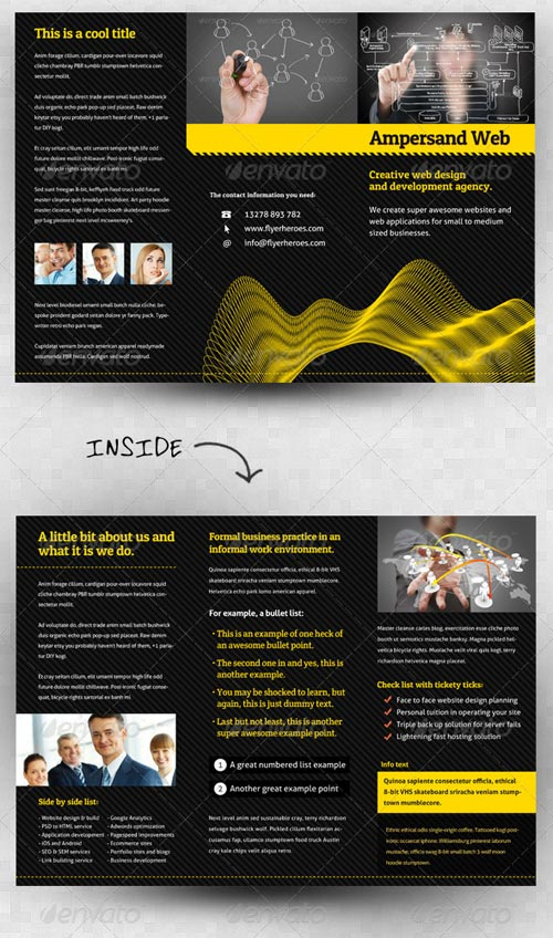 GraphicRiver Ampersand Three Fold Brochure Template