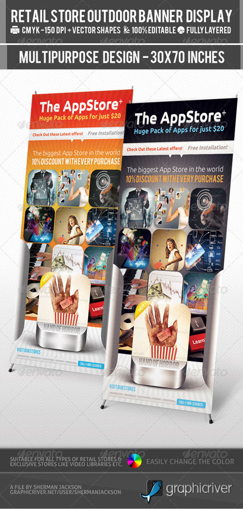 GraphicRiver Retail Store Billboard & Outdoor Banner Signage