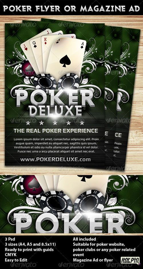 GraphicRiver Poker Magazine Ad or flyer Template 4