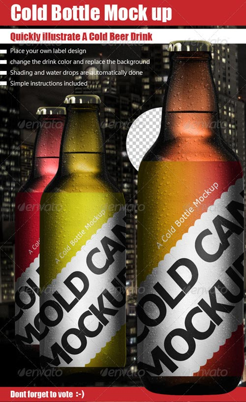 GraphicRiver Cold Bottle Mock Up