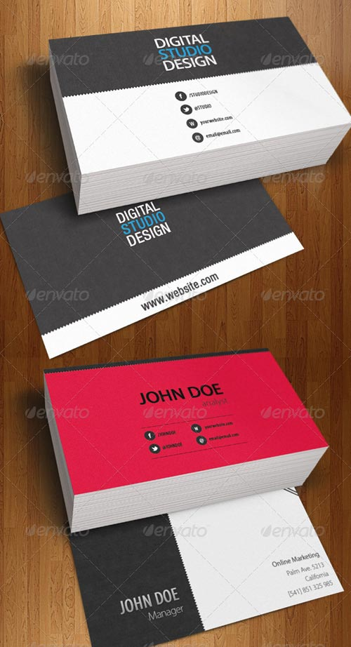GraphicRiver Professional Business Card Corporative Design