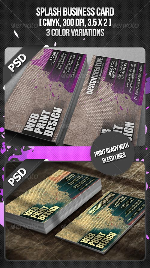 GraphicRiver Splash Business Card