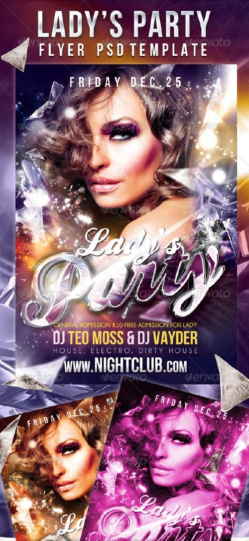 GraphicRiver Lady's Party - Flyer PSD Template