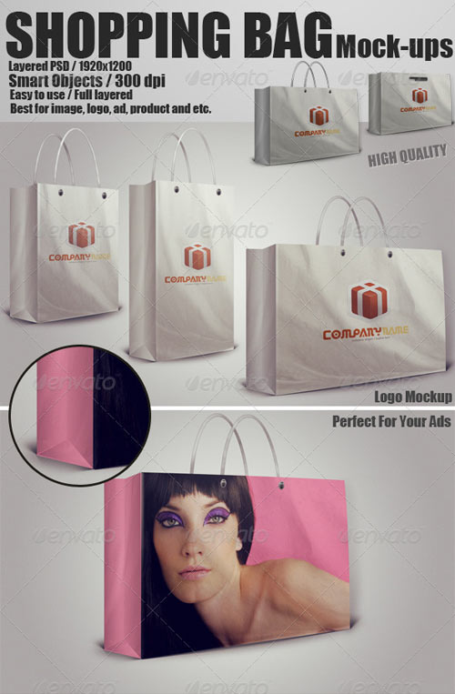 GraphicRiver Shopping Bag Mockups PSD